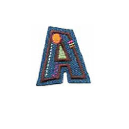 Textil betű, vasalható - A, farmer