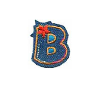 Textil betű, vasalható - B, farmer