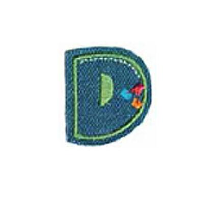Textil betű, vasalható - D, farmer