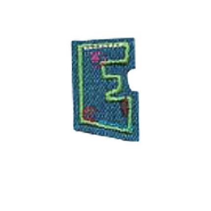 Textil betű, vasalható - E, farmer