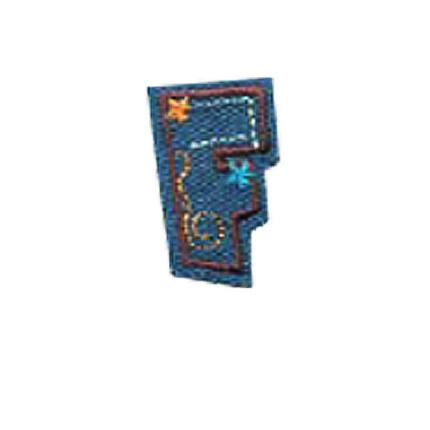 Textil betű, vasalható - F, farmer