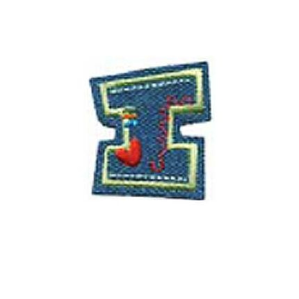 Textil betű, vasalható - I, farmer