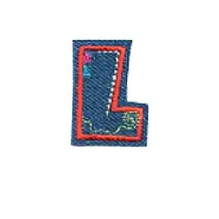 Textil betű, vasalható - L, farmer