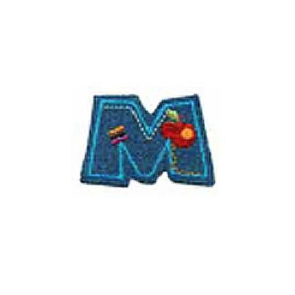Textil betű, vasalható - M, farmer