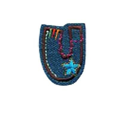 Textil betű, vasalható - U, farmer