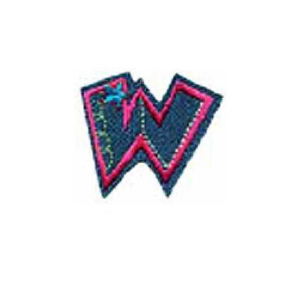 Textil betű, vasalható - W, farmer
