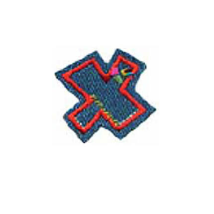 Textil betű, vasalható - X, farmer