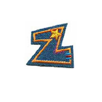 Textil betű, vasalható - Z, farmer