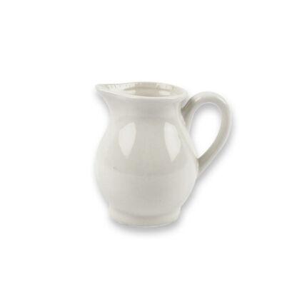 Porcelán kiöntő - fehér, 8 cm