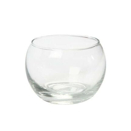 Üveg mécsestartó - gömb, 8x7 cm