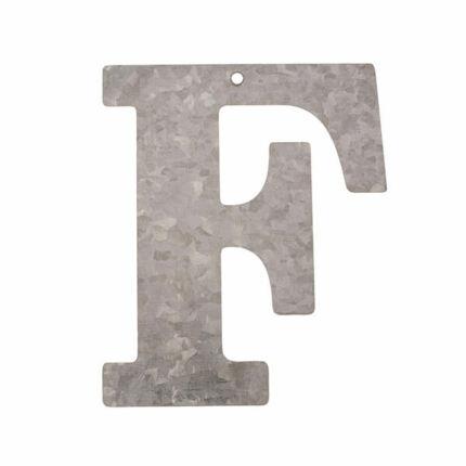 Cink betű - F, 12 cm