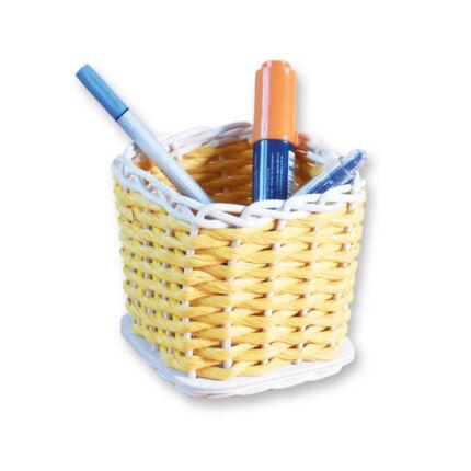 Kosárfonó kézműves csomag - ceruzatartó papírzsinórral