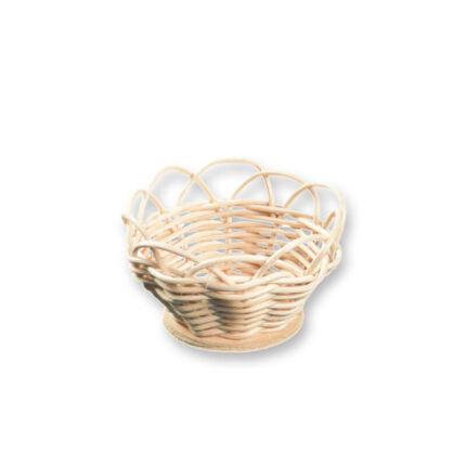 Kosárfonó kézműves csomag - csipkés szélű kosár