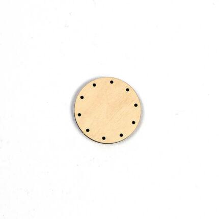 Kosárfonó alap, kör - 5 cm, 2,5 mm lyukméret