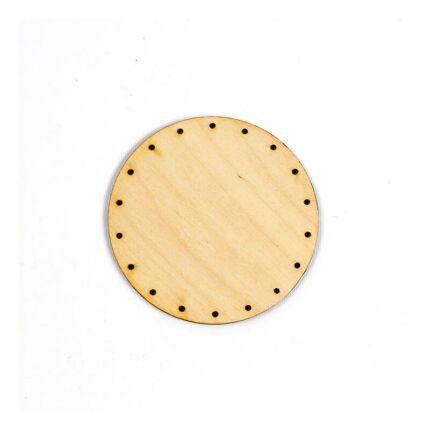 Kosárfonó alap, kör - 9 cm, 2,5 mm lyukméret