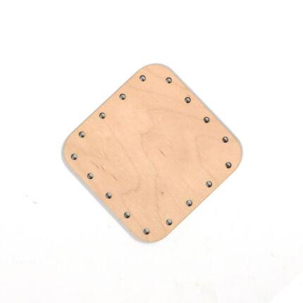 Kosárfonó alap, szögletes - 9x9 cm, 2,5 mm lyukméret