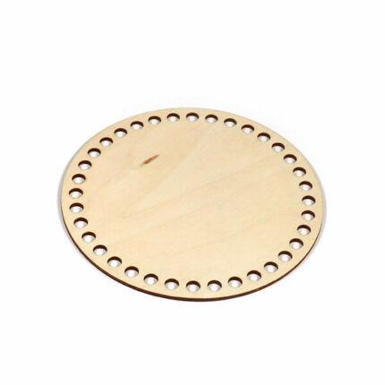 Horgolható fa alap, kör - 16 cm, 8 mm lyukméret