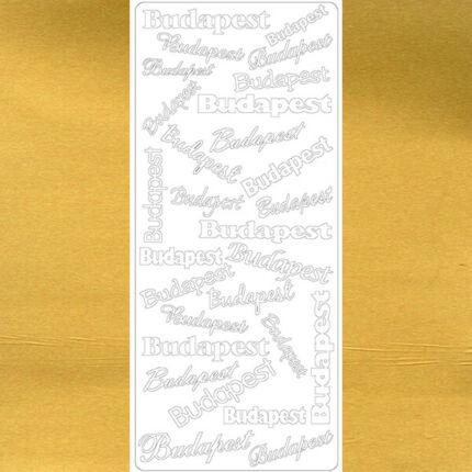 Kontúrmatrica - Budapest, arany, 7064 - AKCIÓS