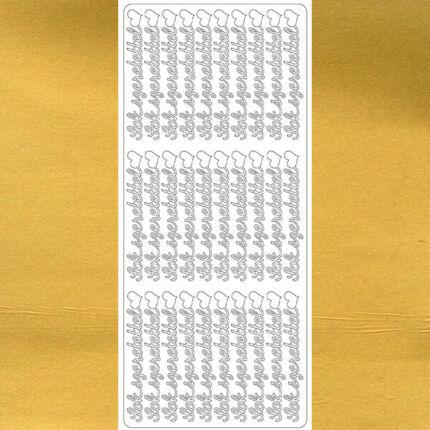 Kontúrmatrica - sok szeretettel, arany, 7909