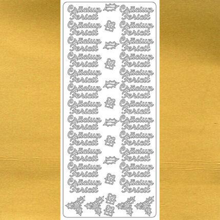 Kontúrmatrica - boldog karácsonyt, román, arany, 7943  - AKCIÓS