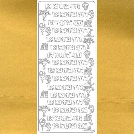 Kontúrmatrica - boldog évfordulót, román, arany, 7944  - AKCIÓS