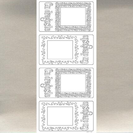 Kontúrmatrica - szeretettel, román, ezüst, 7945  - AKCIÓS