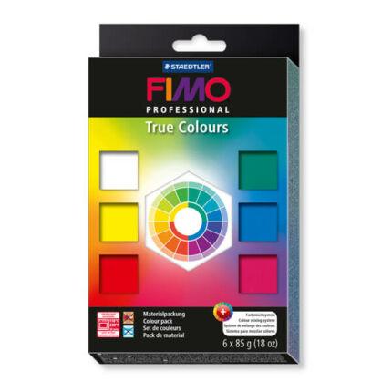 FIMO Professional süthető gyurma készlet, True Colours - 6x85 g