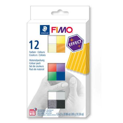 FIMO Effect Colour Pack süthető gyurma készlet, 12x25 g