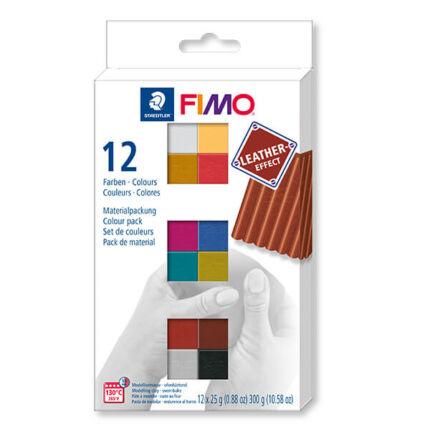 FIMO-Effect-Colour-Pack-Leather-suthetogyurmakeszlet-12x25g