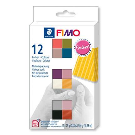 FIMO Soft Colour Pack süthető gyurma készlet, 12x25 g - Fashion Colours