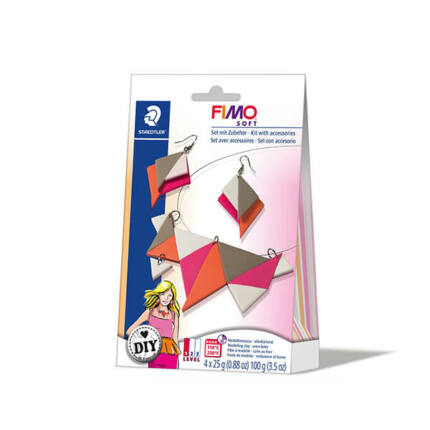 FIMO Soft DIY süthető gyurma készlet, 4x25 g - triangle