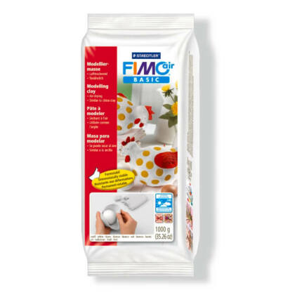 FIMO Air Basic levegőn száradó gyurma 1000 g - fehér (8101-0)