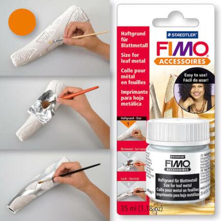 FIMO metállap, aranyfüst ragasztó, 35 ml