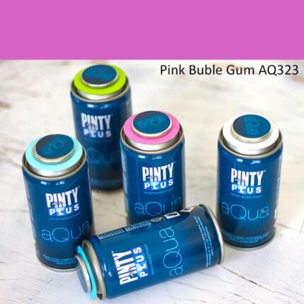Pinty Plus Aqua, vízbázisú festékspray, 150 ml - 323 Pink Buble Bum