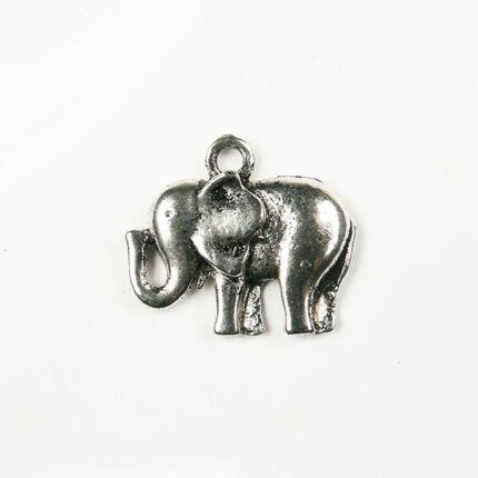 Charm, fémdísz - elefánt, szerencsehozó