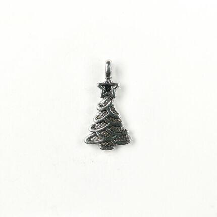 Charm, fémdísz - fenyőfa