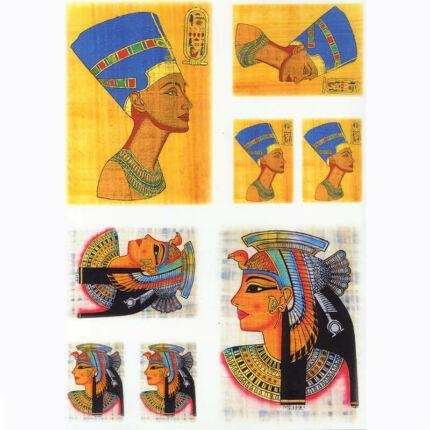 Rizspapír - egyiptomi fejek