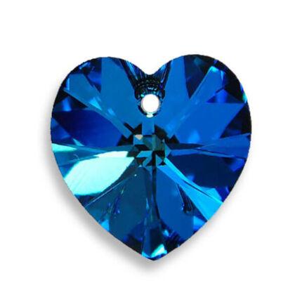 6228 Swarovski szív alakú függő, 14,4x14 mm - Crystal Bermuda Blue
