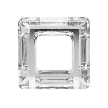 4439 Swarovski négyzet alakú függő, 14 mm - Crystal Comet Argent Light