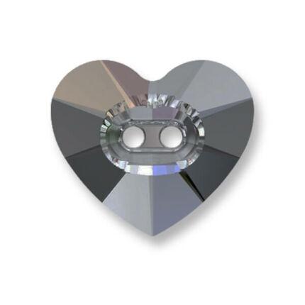 6228 Swarovski szív alakú függő, 10,3x10 mm - Crystal Silver Night