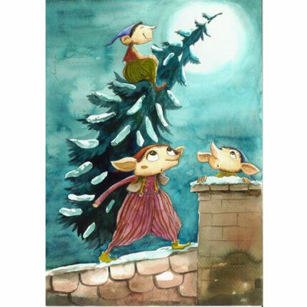 Egri Mónika kifestő, Karácsonyi - Manókarácsony