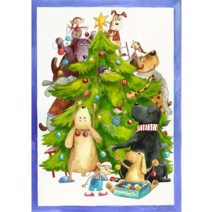 Egri Mónika kifestő, Karácsonyi - Karácsonyfa díszítés