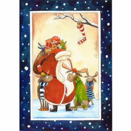 Egri Mónika kifestő, Karácsonyi - A Mikulás fázós szarvasa