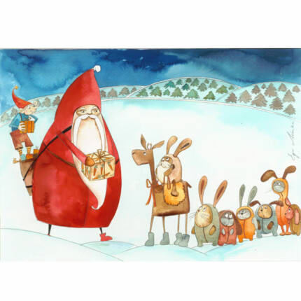Egri Mónika kifestő, Karácsonyi - Nyulak Mikulása