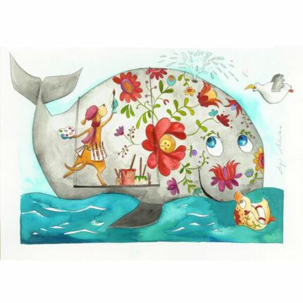 Egri Mónika kifestő, Állat figurák - Kalocsai bálna