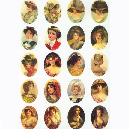 Rizspapír - hölgy portrék