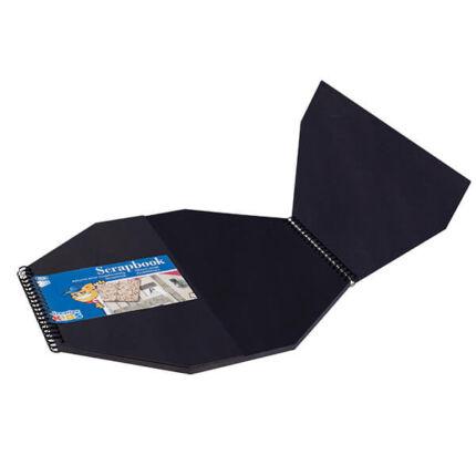 Creative Kids scrapbook album - 30x30 cm, nyolcszög, fekete