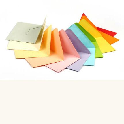 Boríték, C6, 11x16 cm - színes, natural white, 80 g