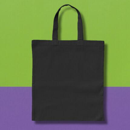 Pamut táska - 38x42 cm, rövid fülű, fekete