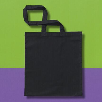 Pamut táska - 38x42 cm, hosszú fülű, fekete
